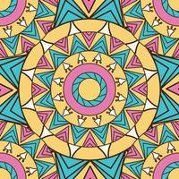 gekleurde mandala patroon achtergrond vector
