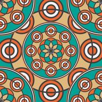 lineair gekleurd naadloos mandalapatroon vector
