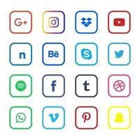 sociale media pictogramserie vector