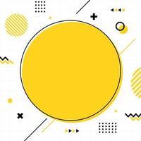 gele memphis-stijl in vierkant formaat. vector