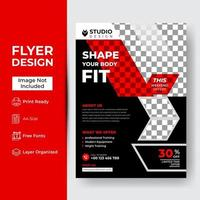 creatieve abstracte fitness en sportschool folder sjabloon vector