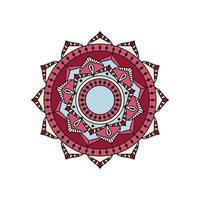 rood mandala-ontwerp vector