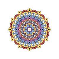 Indiase kleurrijke sierlijke mandala vector