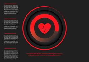 Hartfactor infografisch sjabloon vector