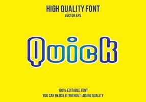 snel bewerkbaar teksteffect vector