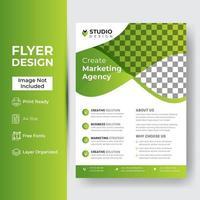 zakelijke brochure folder lay-out ontwerpsjabloon in a4-formaat vector