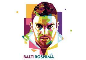 Balti roshima - dj levensstijl - wpap vector