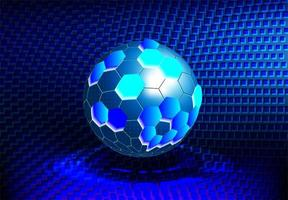 moleculaire ronde tech-balstructuur vector