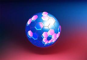 moleculaire bal structuur technische achtergrond vector