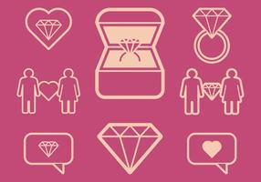 Verlovingspictogrammen vector