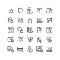 sociaal netwerk zoals overzicht pictogramserie vector