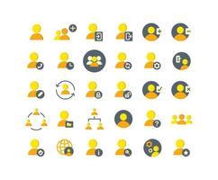 gebruikers platte pictogramserie