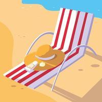 zomer- en vakantiestoelontwerp vector