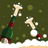 flessen champagne geïsoleerd