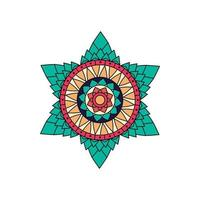Indiase kleurrijke ster mandala ontwerp vector