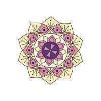 Indiase kleurrijke pastel mandala vector