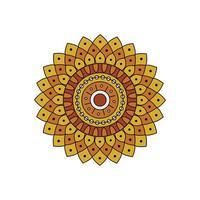 Indisch kleurrijk geel mandalaontwerp vector