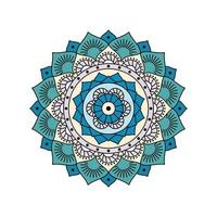 Indisch kleurrijk groenachtig blauw mandalaontwerp vector