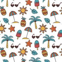 zomer naadloze patroon achtergrond vector