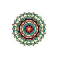 retro kleur mandala ontwerp vector