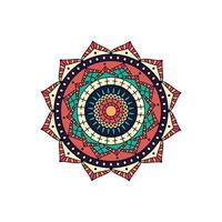 kleurrijk stervormig mandalaontwerp vector