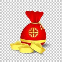 rode zak voor Chinees nieuw ja