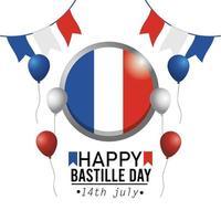 Franse bastille-dag nationale viering banner