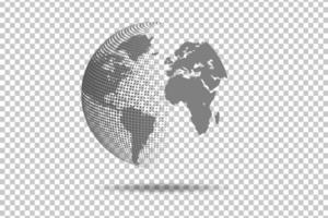 abstracte wereldkaart wereldwijde netwerkverbinding vector