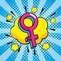 pop-art met vrouwensymbool vector