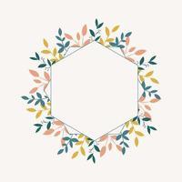 botanisch frame met bladeren