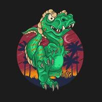 t-rex schattige dinosaurus vector