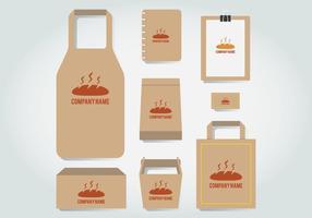Bakkerij Branding Template vector