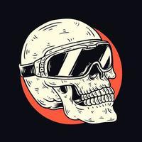 schedel met bril