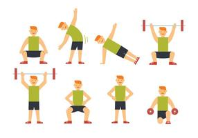 Sportman trainingsvectoren vector