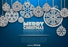 Vector Sierlijke Vrolijke Kerstbollen