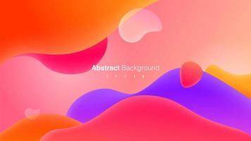 kleurrijke vloeistof vormen samenstelling concept vector
