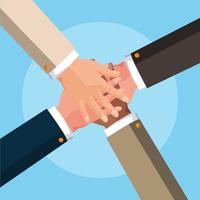 teamwerk handen avatar karakter vector