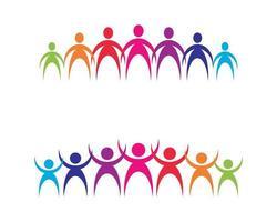 samen logo afbeeldingen vector