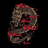 vliegende gouden draak