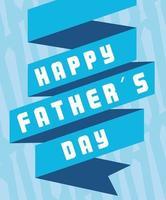 gelukkige vaderdagkaart met lintdecoratie