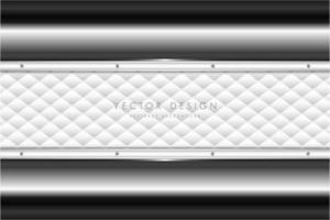 elegante grijze metalen achtergrond met witte bekleding.