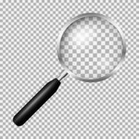 realistisch vergrootglas vector