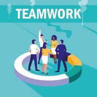 zakenmensen groep avatar karakter vector