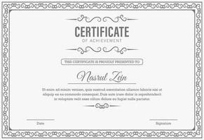 certificaat van prestatie-sjabloon vector