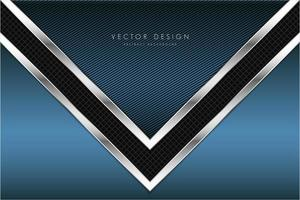 blauwe technologische metaalachtergrond met pijlvorm.