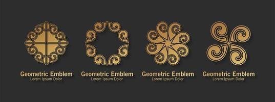 set luxe sieraad logo's vector