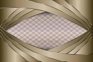 luxe gouden en zilveren achtergrond met bekleding