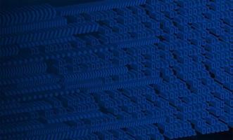 blauwe 3d binaire cyber circuit achtergrond