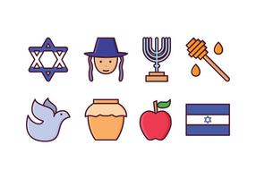 Gratis Israël Icon Set vector