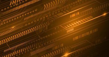 beweging cyber circuit toekomstige technologie concept achtergrond vector